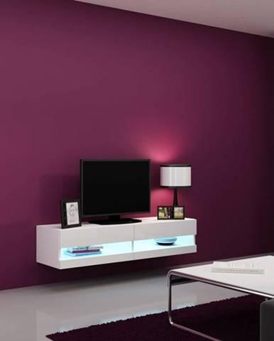 Vigo New 140 tv stolík na stenu biela