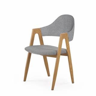 K344 jedálenská stolička sivá