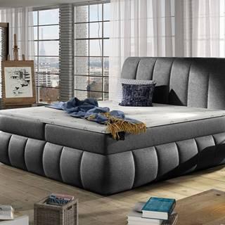 Vareso 180 čalúnená manželská posteľ s úložným priestorom čierna (Dora 96)