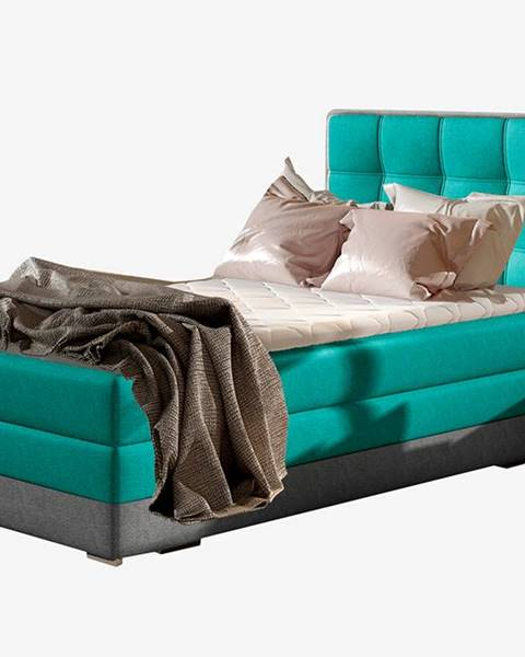 NABBI Alessandra 90 P čalúnená jednolôžková posteľ svetlomodrá