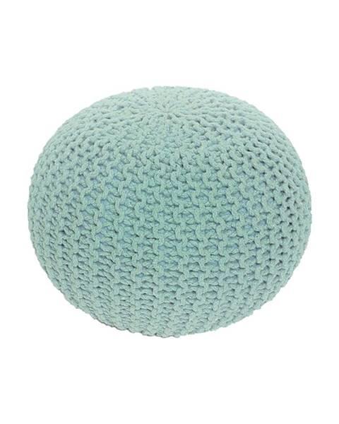 Tempo Kondela Gobi Typ 2 pletená taburetka mentolová