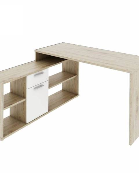 Kondela Noe New rohový písací stolík dub san remo