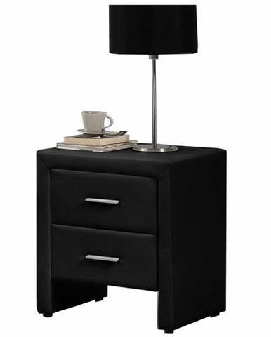 Castel čalúnený nočný stolík čierna