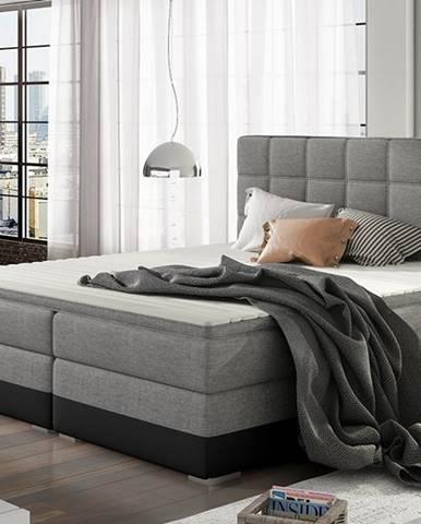 Dalino 140 čalúnená manželská posteľ s úložným priestorom svetlosivá