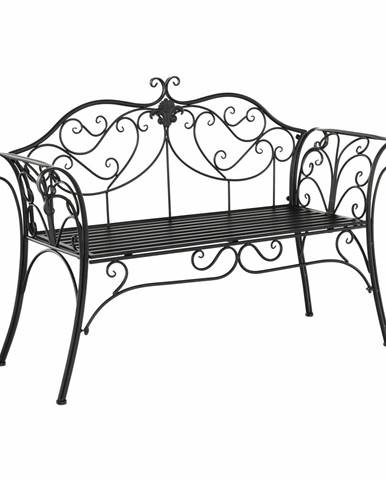 Etelia záhradná lavička čierna