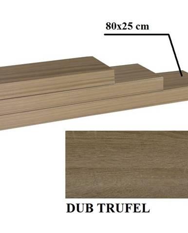 Gana polica 80x25 cm dub truflový