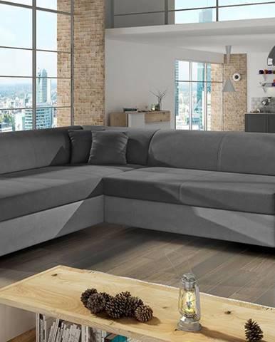 Pinero L rohová sedačka s rozkladom a úložným priestorom sivá (Soro 93)