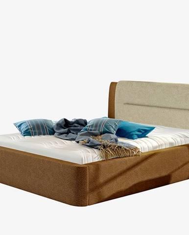 Portima 160 čalúnená manželská posteľ tmavohnedá (Dora 26)