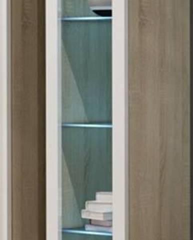 Vigo 180 vitrína na stenu so sklom dub sonoma
