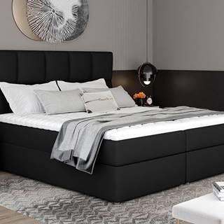 Grosio 145 čalúnená manželská posteľ s úložným priestorom čierna (Soft 11)