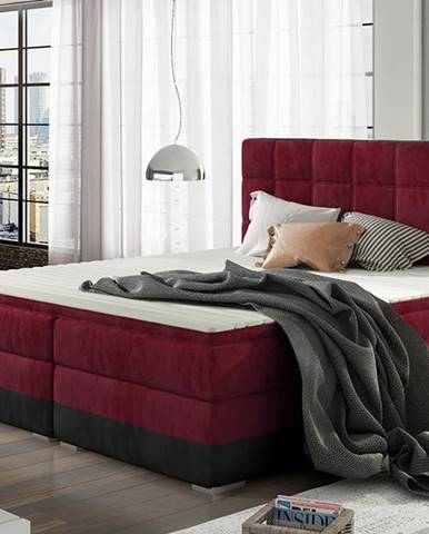Dalino 160 čalúnená manželská posteľ s úložným priestorom bordová