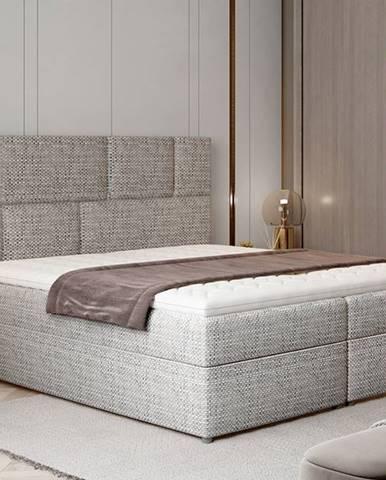 Ferine 185 čalúnená manželská posteľ s úložným priestorom sivá (Berlin 01)