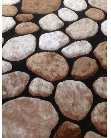 Pebble Typ 2 koberec 140x200 cm hnedá