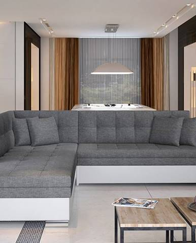 Pescara L rohová sedačka s rozkladom sivá (Sawana 05)