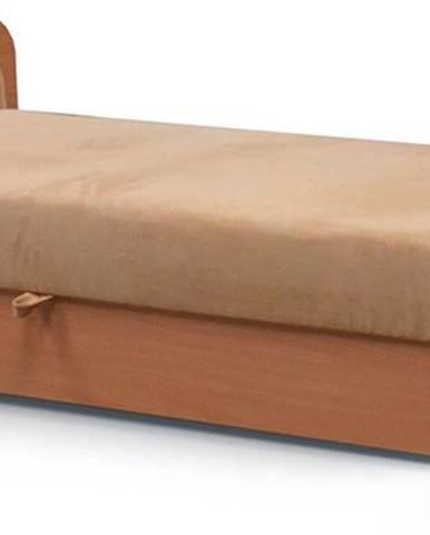 Pinerolo 80 L jednolôžková posteľ (váľanda) s úložným priestorom svetlohnedá