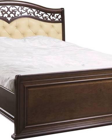 Verona V-A 180 rustikálna manželská posteľ hnedá