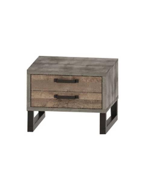 NABBI Bova BC nočný stolík so zásuvkami pieskový dub