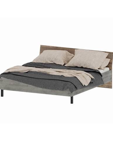 Bova 180 manželská posteľ s roštom pieskový dub