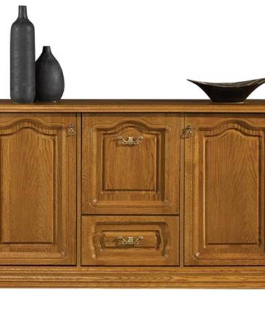 Kinga V rustikálna barová skrinka drevo D3