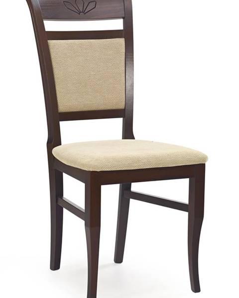 Halmar Jakub jedálenská stolička tmavý orech