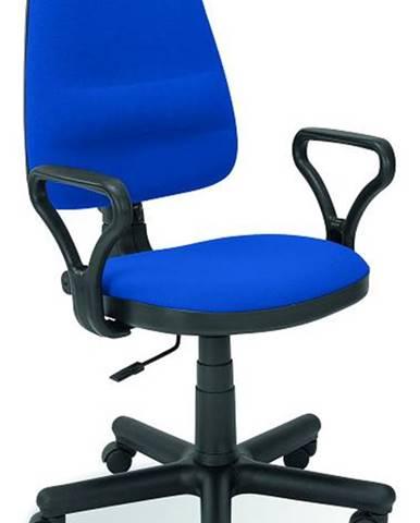 Bravo kancelárska stolička s podrúčkami modrá (C6)