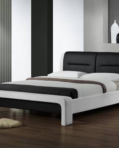 Cassandra 120 čalúnená jednolôžková posteľ s roštom biela