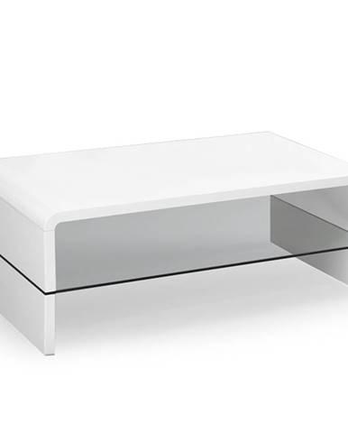 Claudia konferenčný stolík biely lesk