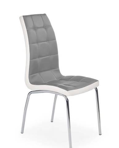 K186 jedálenská stolička sivá
