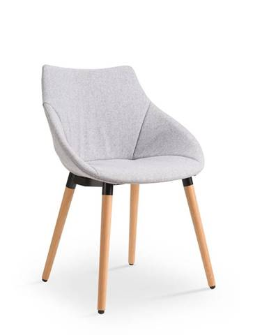 K226 jedálenská stolička svetlosivá