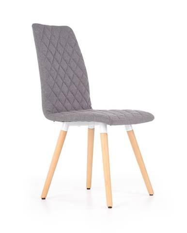 K282 jedálenská stolička sivá