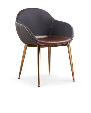 K304 jedálenská stolička tmavosivá