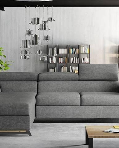 Korense L rohová sedačka s rozkladom a úložným priestorom sivá (Sawana 05)