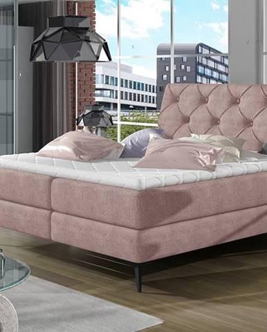 Lazio 180 čalúnená manželská posteľ s úložným priestorom ružová (Omega 91)