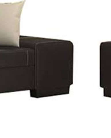 Pinero 2+3 rozkladacia sedacia súprava čierna (Soft 11)
