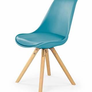 K201 jedálenská stolička tyrkysová