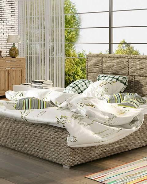 NABBI Liza 160 čalúnená manželská posteľ s roštom cappuccino