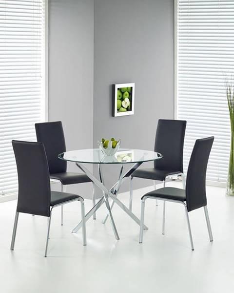 Halmar Raymond okrúhly sklenený jedálenský stôl priehľadná