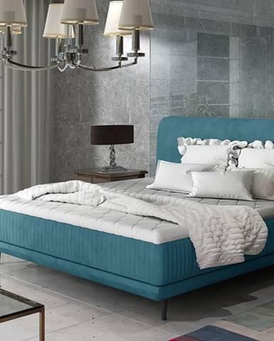 Ancona 140 čalúnená manželská posteľ tyrkysová