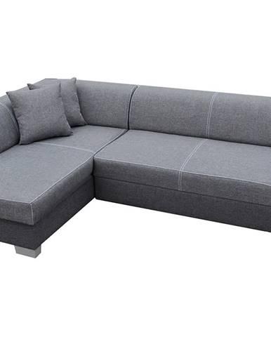 Ferol L rohová sedačka s rozkladom a úložným priestorom svetlosivá