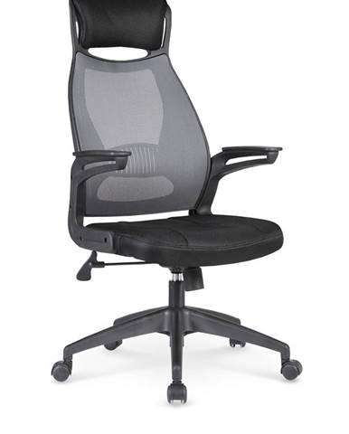 Solaris kancelárska stolička s podrúčkami čierna