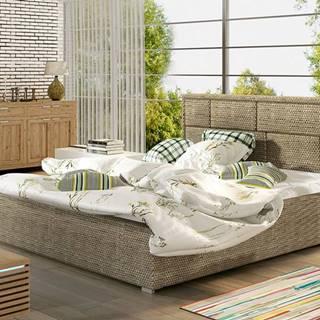 Liza 160 čalúnená manželská posteľ s roštom cappuccino