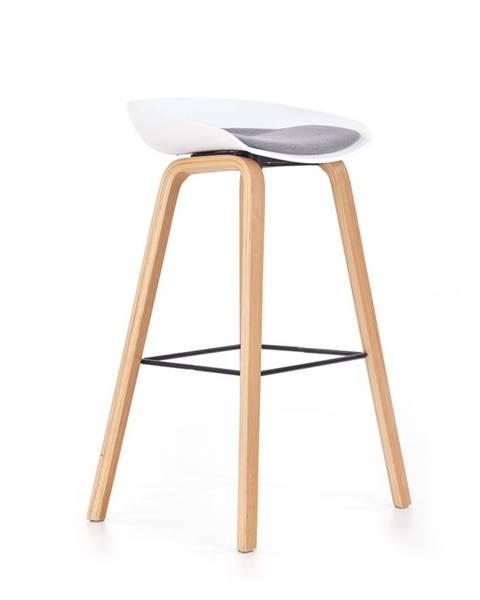 Halmar H-86 barová stolička biela