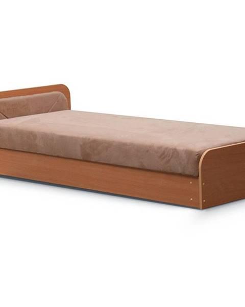 NABBI Pinerolo 80 L jednolôžková posteľ s úložným priestorom hnedá