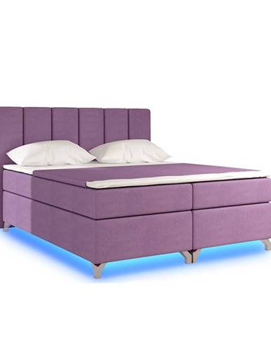 Barino 160 čalúnená manželská posteľ s úložným priestorom ružová