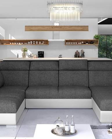 Ermo U L rohová sedačka u s rozkladom a úložným priestorom sivá (Sawana 05)