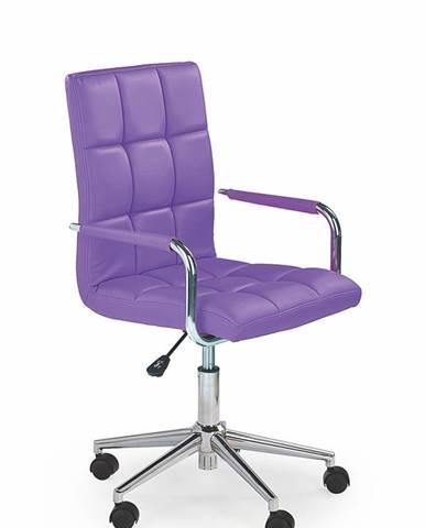 Gonzo 2 kancelárske kreslo s podrúčkami fialová