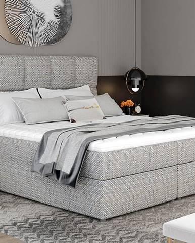 Grosio 165 čalúnená manželská posteľ s úložným priestorom sivá (Berlin 01)