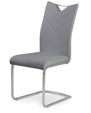 K224 jedálenská stolička sivá