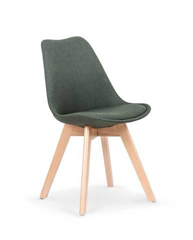 K303 jedálenská stolička tmavozelená