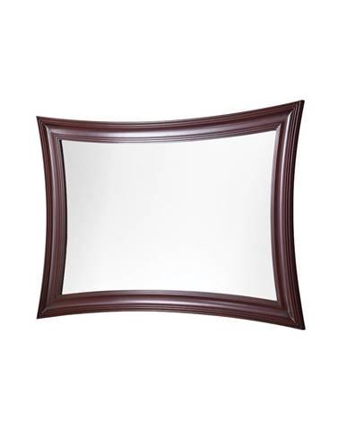 Milano MI-L1 rustikálne zrkadlo na stenu mahagón